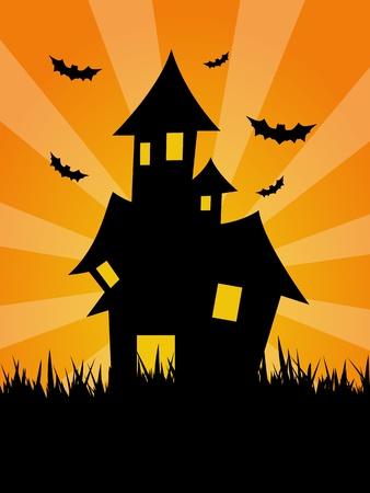 Spooky House Stock Photo