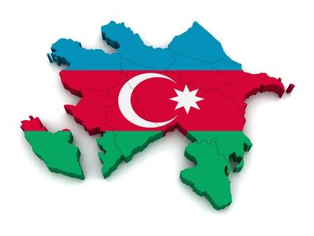 azerbaijan: 3D Map of Azerbaijan