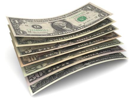credit union: Dollar Money Banknotes