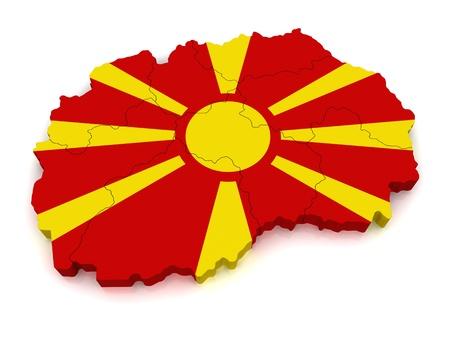 3D Map of Macedonia