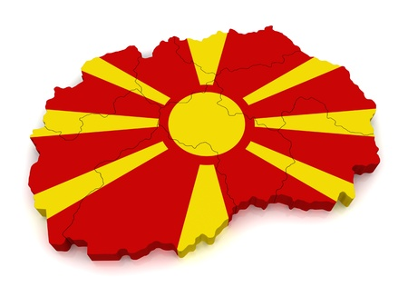 macedonia: 3D Map of Macedonia