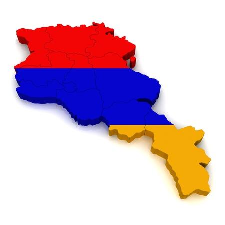 3D Map of Armenia  photo