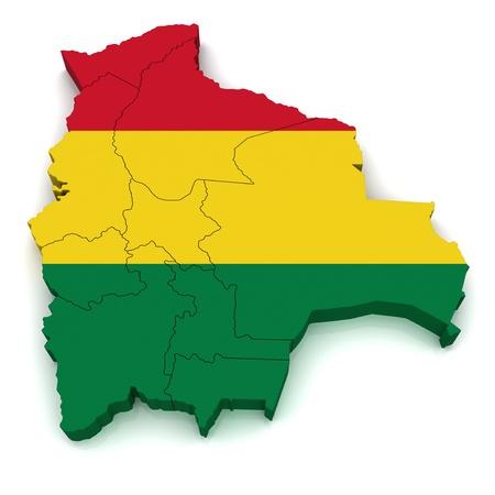 mapa de bolivia: Mapa 3D de Bolivia