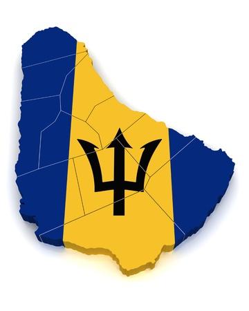 barbados: 3D Map of Barbados