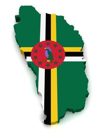 saint joseph: 3D Map of Dominica