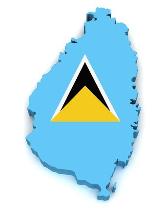saint lucia: 3D Map of Saint Lucia