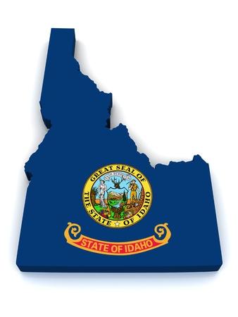 3D Map of Idaho  photo