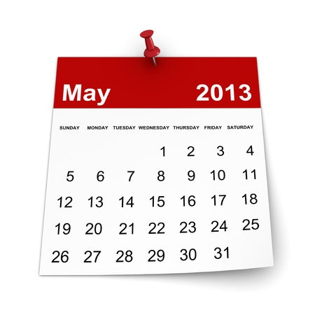 Calendar 2013 - May Stock Photo - 17970590