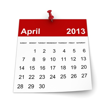 Calendar 2013 - April photo