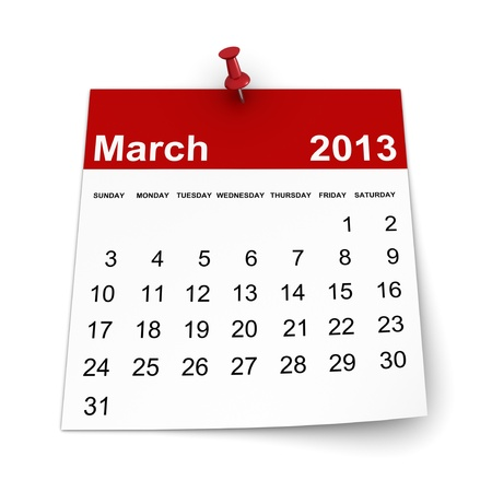 Calendar 2013 - March Stock Photo - 17970597