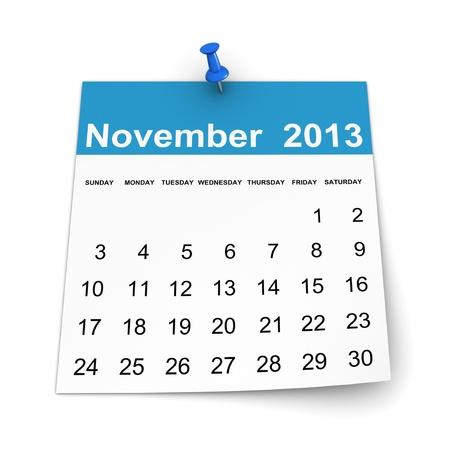 Calendar 2013 - November photo