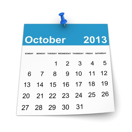 Calendar 2013 - October Standard-Bild