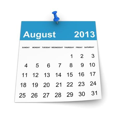 Calendar 2013 - August photo