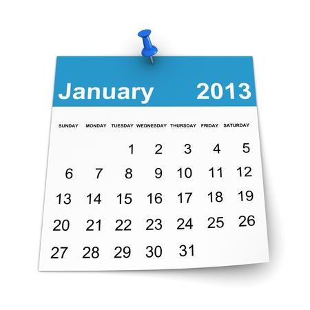 Calendar 2013 - January photo