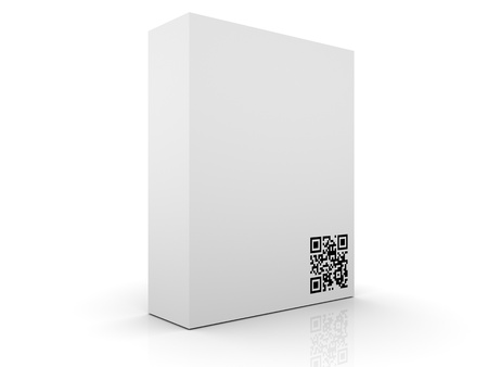 upcode: Software Box with QR Code  Stock Photo
