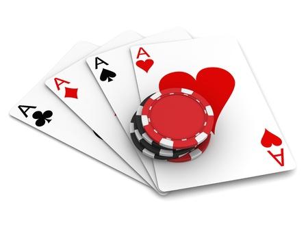 fichas casino: Naipes y fichas de casino Foto de archivo