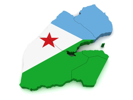 co operative: 3D Map of Djibouti