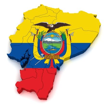 republic of ecuador: 3D Map of Ecuador
