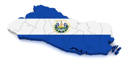 3D Map of El Salvador  photo