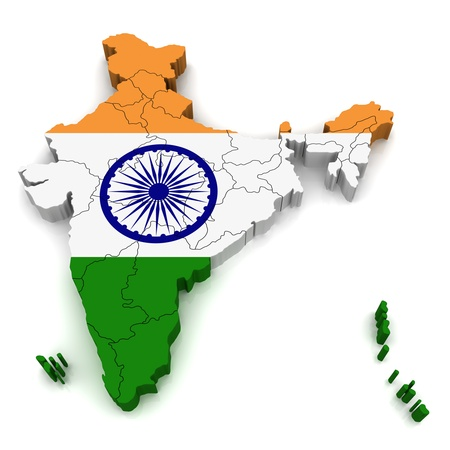 operative: 3D Map of India