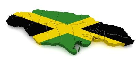 jamaica: 3D Map of Jamaica