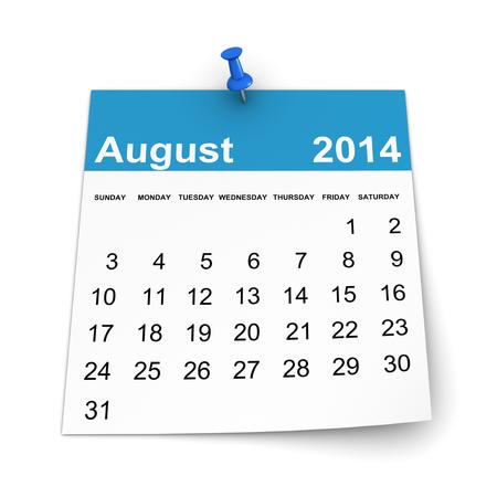 Calendar 2014 - August photo