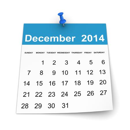 december: Calendar 2014 - December