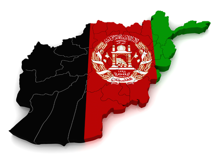 3D map of Afghanistan photo