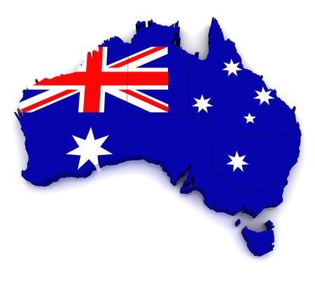 melbourne: 3D map of Australia