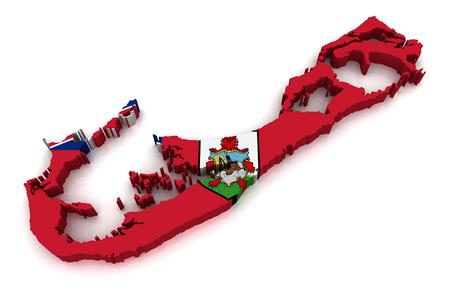 bermuda: 3D map of Bermuda