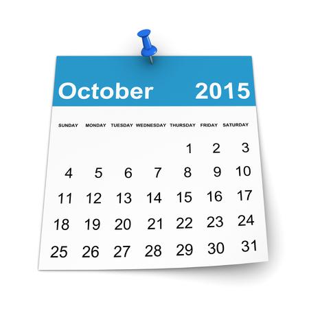 Calendar 2015 - October photo