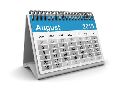 Calendar 2015 - August photo