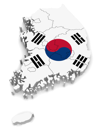 co operative: 3D map of South Korea