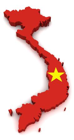 operative: 3D map of Vietnam