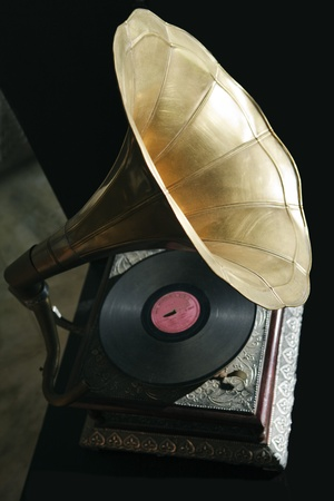 antique phonograph: old gramaphone