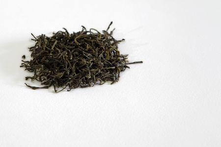 Closeup view of a heap of dry green tea leaves Stock Photo - 13322224