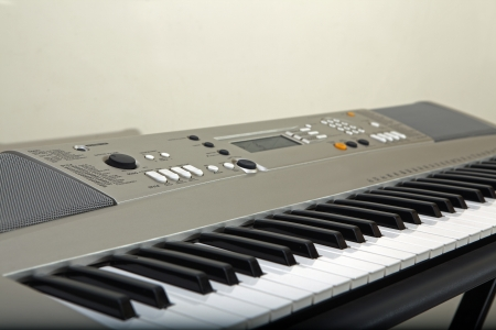 electronic piano keyboard closeup photo