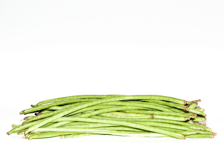 Long Beans on white photo