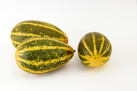 Madras: Indian Yellow Pumpkin (Malabar Cucumber) Stock Photo