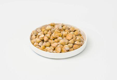 Snow mountain garlic or single clove garlic or kasmiri garlic on white 写真素材