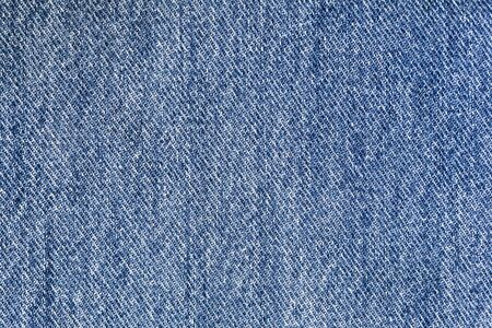 Blue denim fabric closeup 写真素材
