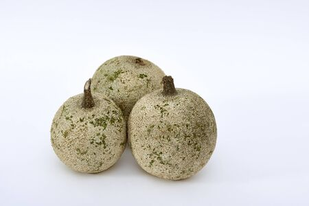 Indian Bael (Aegle marmelos) or wood apple fruits on white background