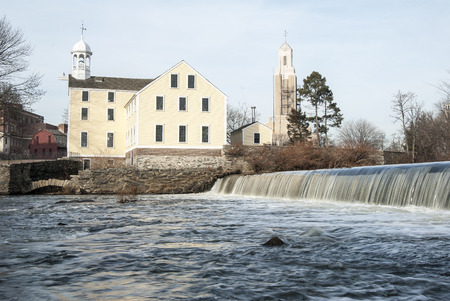 spillway: The historic Slater Mill is known as the birthplace of the American Industrial Revolution