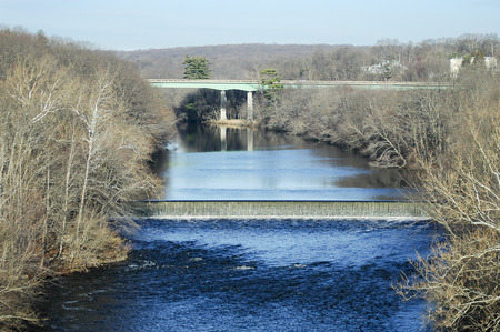 spillway: Spillway on Blackstone River as it curves northward