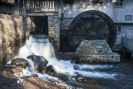 grist mill: Historic Jenneys Grist Mill in Plymouth, Massachusetts