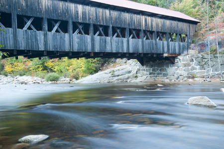 swift: Albany Bridge spans the Swift River in New Hampshire