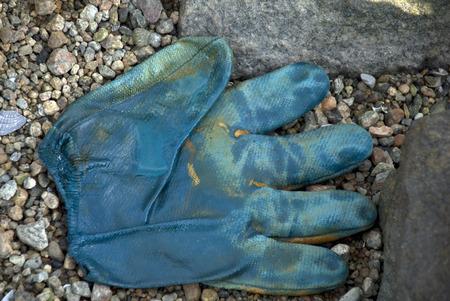 work glove: Lost work glove shows its history