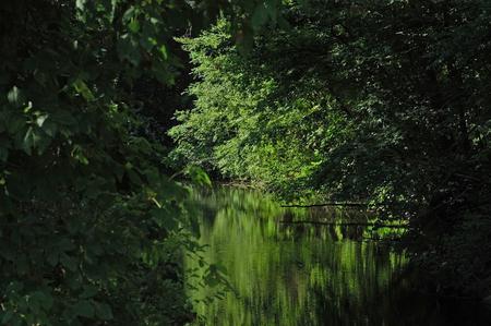 bikeway: Blackstone Canal scene Stock Photo
