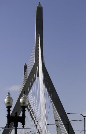 glisten: Zakim Bridge towers glisten in winter afternoon sun