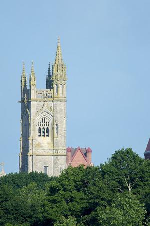 church bell: Unitarian Church bell tower in Fairhaven, Massachusetts
